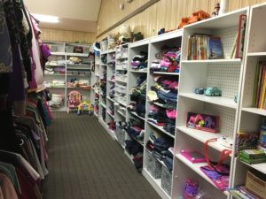 We have sizes from infant to 3x. As well as books, toys, and small household items.
